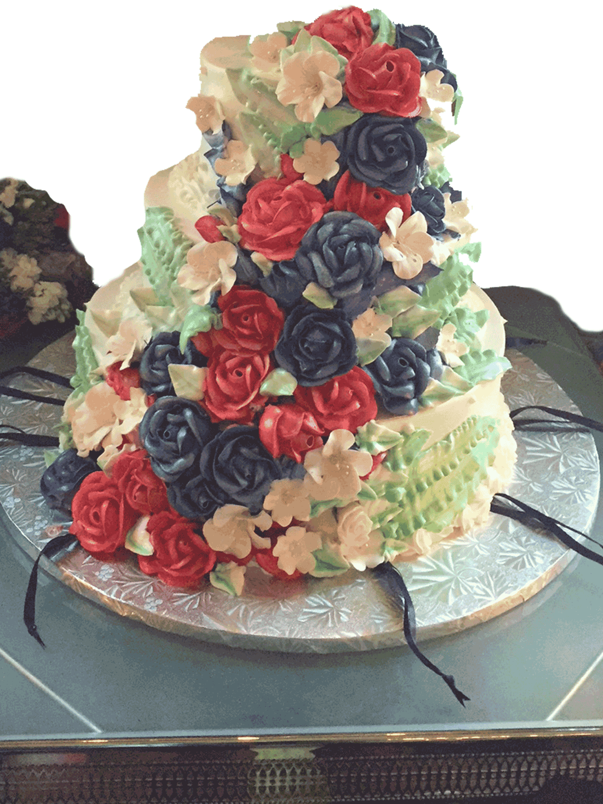 flower-custom-wedding-cake
