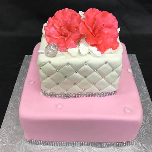 Elegant Sweet Sixteen Birthday Cake