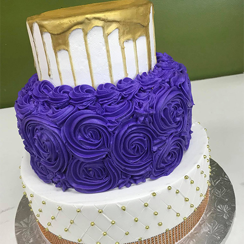 Elegant 3 Tier Birthday Cake