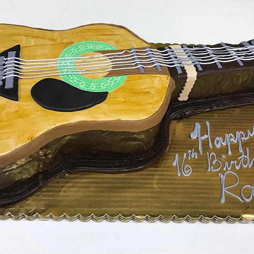 Guitar Custom Birthday Cake