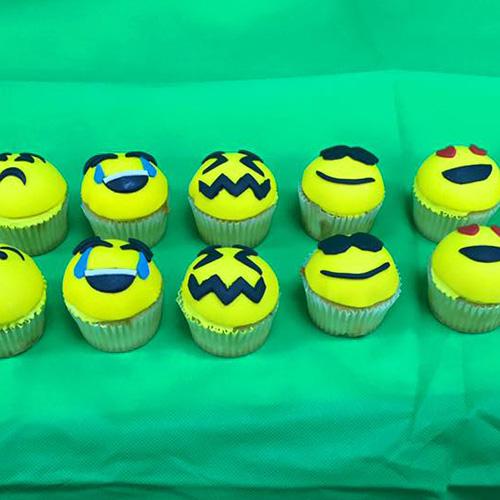 Emoji Custom Birthday Cupcakes