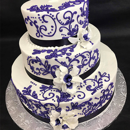 Purple Wedding Cake Ideas: Purple Designs Custom Wedding Cake - Gourmet Desserts