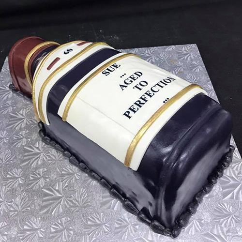 Wine Bottle Custom Birthday Cake