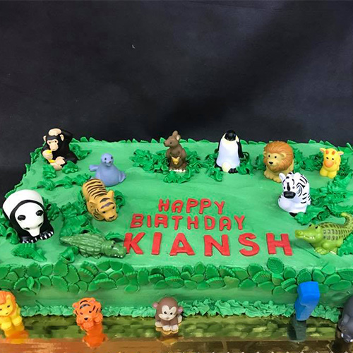 Animals Custom Birthday Cake