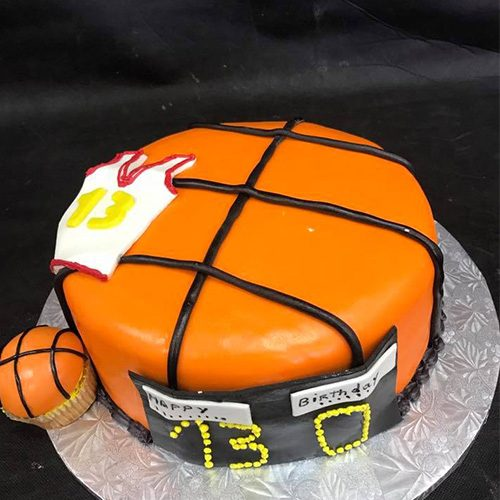 Tremendous Basketball Custom Birthday Cake Gourmet Desserts Nj Local Bakery Funny Birthday Cards Online Unhofree Goldxyz