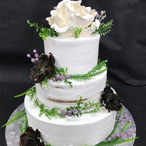 flowers 3 tier bridal shower cake