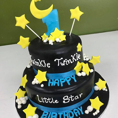 Pleasant Moon Stars Custom Birthday Cake Gourmet Desserts Nj Local Bakery Funny Birthday Cards Online Elaedamsfinfo