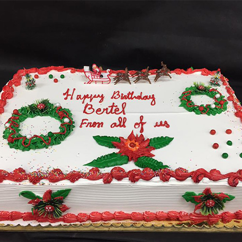 Astonishing Christmas Theme Custom Birthday Cake Gourmet Desserts Nj Local Personalised Birthday Cards Veneteletsinfo