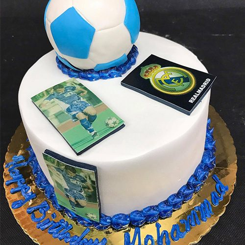 Superb Madrid Soccer Custom Birthday Cake Gourmet Desserts Nj Local Funny Birthday Cards Online Elaedamsfinfo