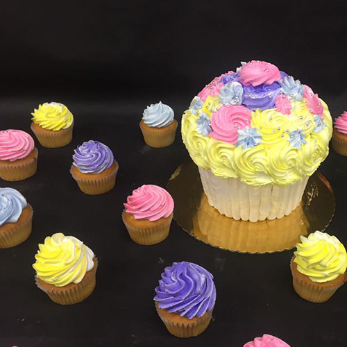 Purple White Flower Cupcakes Gourmet Desserts Nj Local Bakery