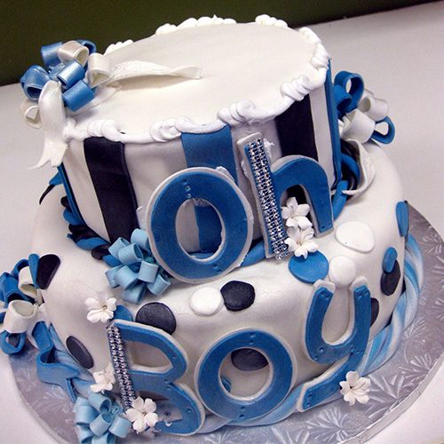 Oh Boy Baby Shower Cake Gourmet Desserts Nj Local Bakery