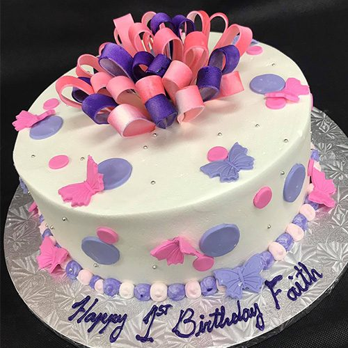 Fantastic Pink Purple Butterflies Birthday Cake Gourmet Desserts Nj Funny Birthday Cards Online Inifofree Goldxyz