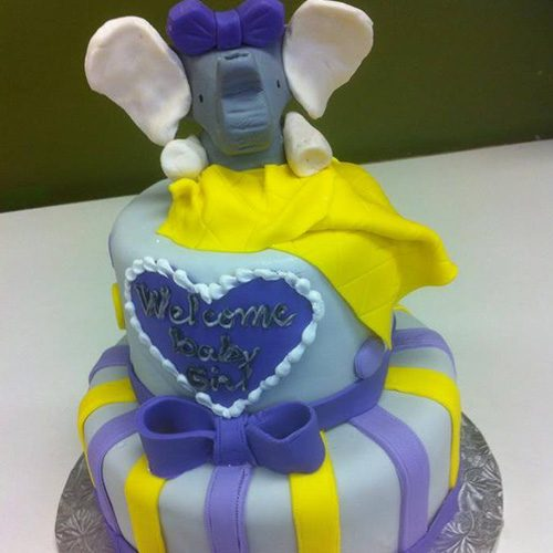 Elephant Custom Baby Shower Cake Gourmet Desserts Nj Local Bakery
